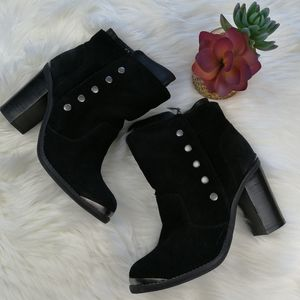 Zigi Girl Absolute Black Leather Boots Size 8